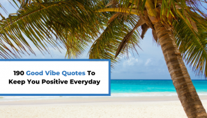 Read more about the article 190 Good Vibe Quotes To Keep You Positive Everyday